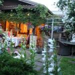 Cluster Art Garden, Matti Luostarinen, at night july 21th, useing mirrors, only yellow light