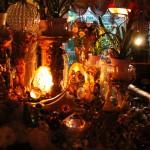 Cluster Art Garden, useing christalls (not mirrors), at night July 21th 2015, Matti Luostarinen