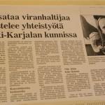 Ladoga Karelia (Middle-Karelia) projects, Karjalainen (1989-1991)
