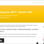 Matti Luostarinen, Cluster art, Finland's big year 2017 – Suomi 100