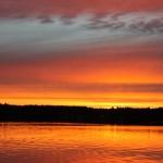 Matti Luostarinen, Cluster art, Evening sun in Kaukjärvi lake, Forssa