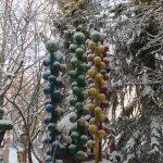 Matti Luostarinen. Cluster art Garden, The First snow. Ensilumi 2019.
