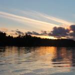 Matti Luostarinen, Cluster art, Kaukjärvi lake, sunset