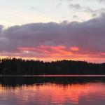 Matti Luostarinen, Cluster art, Sunset in Kaukjärvi lake