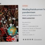 Matti Luostarinen. Cluster art. Mediayhteiskunnan hybridistä pandemiaan.