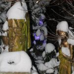 Matti Luostarinen. Cluster art. Cluster art garden in 13.1. 2021.