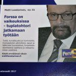 Matti Luostarinen, Cluster art, Municipal elections 2017, Forssa Finland 100 years